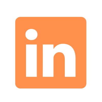 LinkedIn logo orange